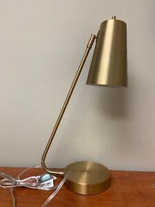 """Brushed Gold Desk Lamp 24""""H"""