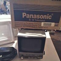 "Vintage Panasonic TRH-513T 5"" Black & White TV Television & Radio Portable AC/DC"