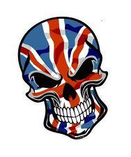 30 cm Ciclista Cráneo Gótico & Union Jack Británico GB Bandera Auto Moto Pegatina Calcomanía