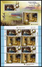 Corée Sud 2009 UNESCO formées Grotte goutte à goutte pierres 2708-2709 Klein Arc Neuf sans charnière