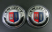 * For Alpina 2x82mm 2 Pin Emblem Badge Bonnet Rear Front Hood Logo Auto *