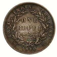 Raw 1840 East India One Rupee