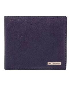 Trussardi Portafoglio Maine Pelle Blu TPS121BLU