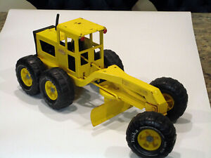 "VINTAGE 1974 - 75 TONKA ROAD GRADER 18"" YELLOW PRESSED STEEL"