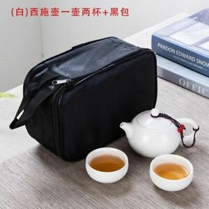 Outdoor Household Portable Kung Fu Teapot And Cups Set With Travel Bag Tableware