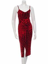 STUNNING NWT $3,495 DOLCE & GABBANA LEOPARD PRINT SILK DRESS WITH SASH TIE