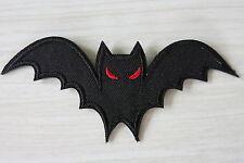 Bat Patch Iron On Black Rockabilly Punk Goth Horror Satan Wicca Devil Vampire