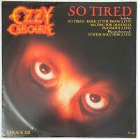 "OZZY OSBOURNE SO TIRED 12"" 5 TRACK EP EPIC UK 1983 PRO CLEANED"
