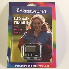 NEW SEALED WEIGHT WATCHERS LETS WALK PEDOMETER & 24 PAGE WALKING GUIDE