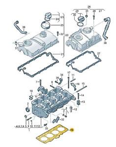 Original Zylinderkopfdichtung (045103383AA) für verschiedene VW/Seat Modelle