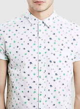 Topman Cotton Collared Floral Casual Shirts & Tops for Men