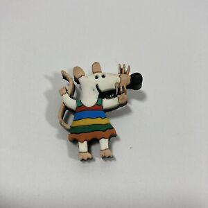 Rare Maisy Mouse Pin Badge Dress Rubber