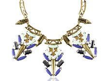 Fashion Women Contemporary Golden Metal Tone Multicolor Chunky Pendant Necklace