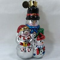 Kurt Adler Snowmen Family Ornament Christmas Tree Ornament VTG KSA Tag 3 Snowmen