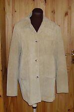 EDEIS LA REDOUTE golden sandy beige  SUEDE LEATHER jacket coat blazer  14 42