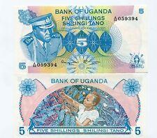 UGANDA Pick 5a 5 Shillings IDI AMIN UNC Banknote
