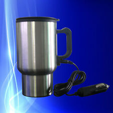 12V Car Cup Stainless Steel Mug Tea Coffee Water Auto Electric Heater Kettle