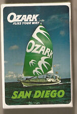 OZARK AIRLINES PLAYING CARDS.   --  SAN DIEGO