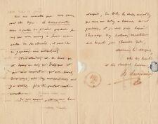 H. D. LACORDAIRE Lettre autographe signée au Marquis de Coriolis d'Espinousse