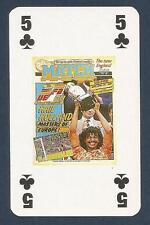 MATCH MAGAZINE-20 YEAR ANNIVERSARY COVER PLAYING CARD-HOLLAND-GULLIT LIFT CUP-5C