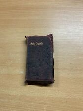 More details for antique holy bible king old & new testaments miniature leather book (p2) ref:l24