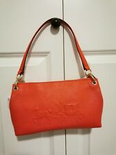 NWT COACH CHARLEY Leather Embossed Horse & Carriage Shoulder Bag Msrp $195.00
