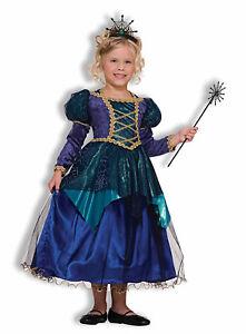 Sparkle Spider Witch Girls Child Blue Princess Halloween Costume