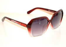 Lunettes de soleil femme rouges strass lentilles zonnebril Sun glasses gafas G5