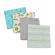 4 Pack Baby Infant Receiving Blankets 100% Cotton Swaddling Hospital 26''x 27''