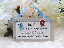 F12 Personalised Nursery Nurse End of Term Christmas Thank You Gift Plaque