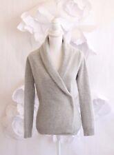 BANANA REPUBLIC Shawl Wrap Sweater Pullover Sz S Angora | Lambswool Gray LS