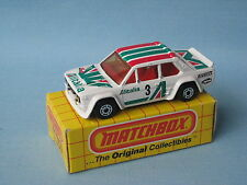 Matchbox Fiat 131 Abarth Alitalia Rally Toy Model Car 75mm Boxed