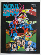 Marvel '93 Preview (March 1993) Magazine Spiderman X-Men Avengers (M837)