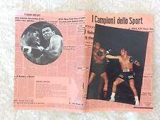 QUADERNO SCOLASTICO ANNI 70 CAMPIONI DELLO SPORT- BOXE BRUNO ARCARI CASSIUS CLAY
