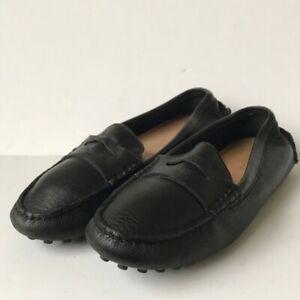 Coach Womens  'Nicola' Leather Driving Loafers Black 6B
