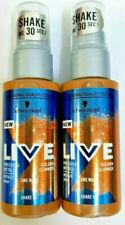 2 x Schwarzkopf Live Golden Glimmer Metallic Spray 50 ml
