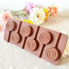 DIY Silicone cake Mold Lollipop Tray Cooking Baking Kitchen Food Swirl Decor