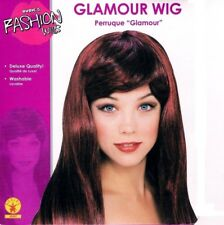 Glamour Black Burgundy Red Wig 24