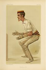 ENGLISH CRICKETER WICKET KEEPER ALFRED LYTTELTON ATHLETE CRICKET CARICATURE