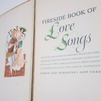 1954 Fireside Book of Love Songs First Edition Provenson Vintage