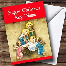 Niño Jesús Rojo Navidad tarjeta de saludos personalizadas