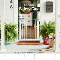 Indoor Dog Gate Cat Door Pet Fence Baby Barrier Walk Thru Toddler Safety Fence