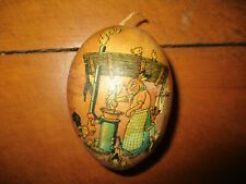 """3 1/2"""" Antique Papier Mache Easter Egg Candy Container."""