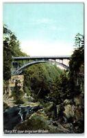 Early 1900s Upper Bridge and Fall Creek, Ithaca, NY Postcard