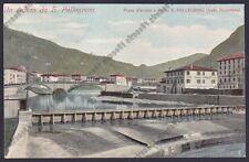 BERGAMO SAN PELLEGRINO TERME 90 VINO TRANI BARLETTA Cartolina viaggiata 1905
