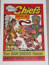 1964 Kansas City Chiefs - San Diego Chargers Poster - AFL - Len Dawson - Mahomes