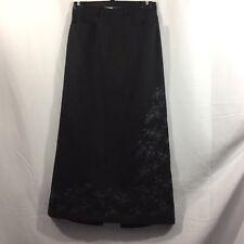 Eddie Bauer Size 8 Women's Lined 75% Wool Gray Maxi Skirt