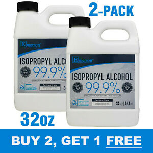 "Rubbing Alcohol 99% ""Plus"" Antiseptic (Isopropyl Alcohol 99%)- 64oz (1/2 Gallon)"