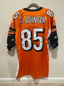 CHAD JOHNSON ~ Cincinnati Bengals Authentic Jersey ~ REEBOK ~ Size 56