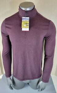 Orvis Mens French Terry Soft 1/4 Zip Pullover Size Medium  Dusty Maroon NWT
